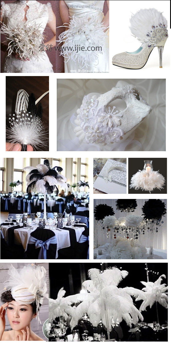 feather wedding theme