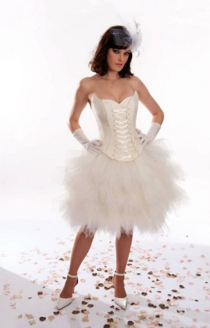 Short swan dress for wedding