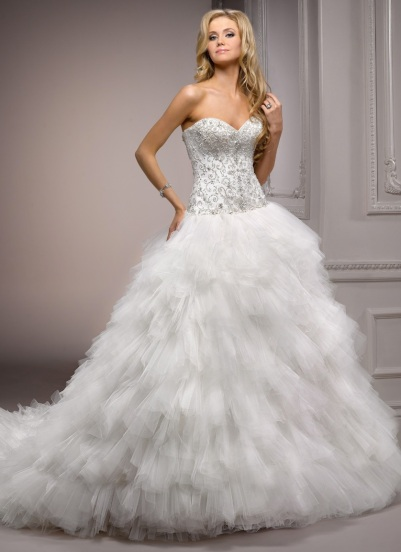 Swan wedding dress