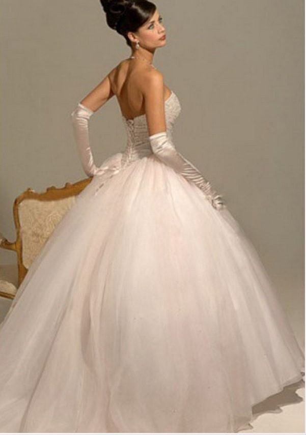 Cinderella Tulle Ball Gown Wedding Dresses