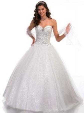 Cinderella tull wedding dress