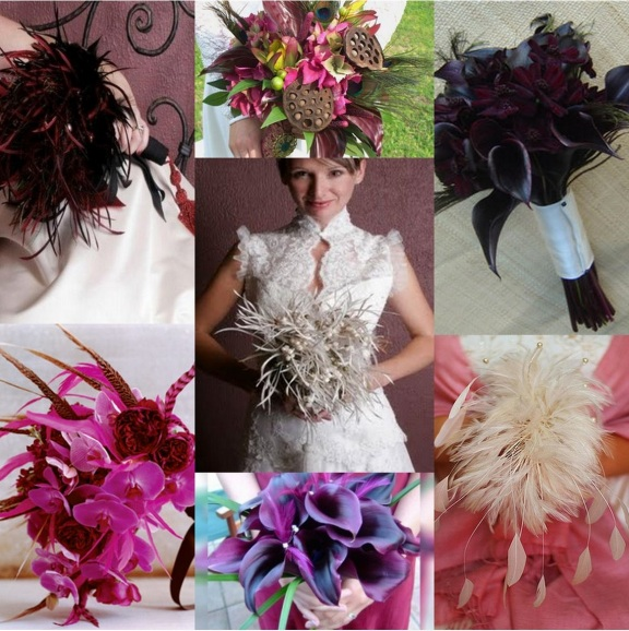 feather theme in wedding
