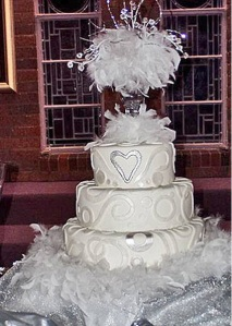 feather wedding cake decoration