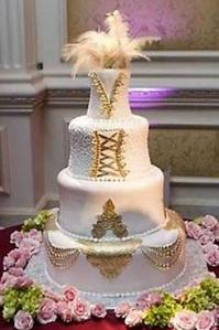 feather wedding cake decoration