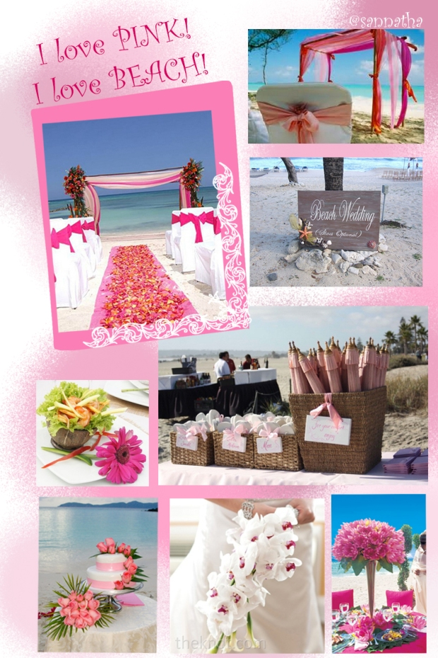 Pink theme for beach wedding