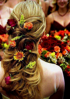colorfull flowers hairstyle