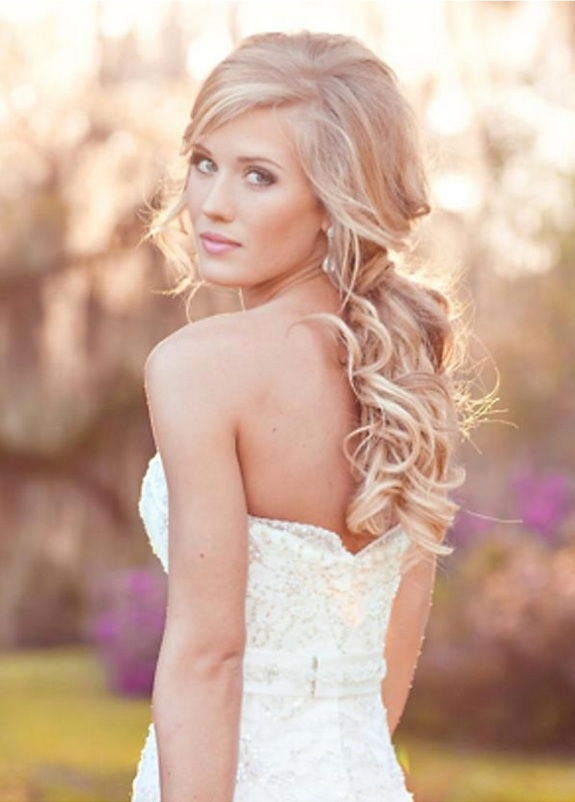 cute blond bride