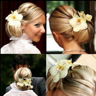 flower hair wedding