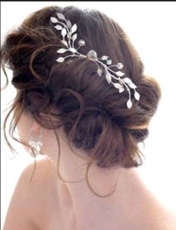 natural wedding hair piece