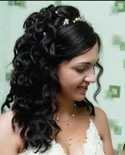 princess long hair wedding style