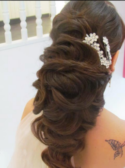 trendy party hair