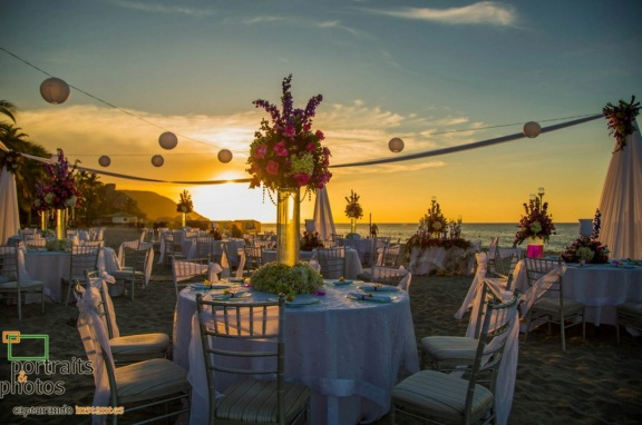 beach evening wedding