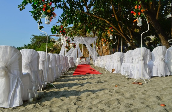 Beach wedding in Colombia