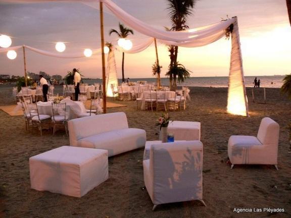 caribbean evening beach wedding