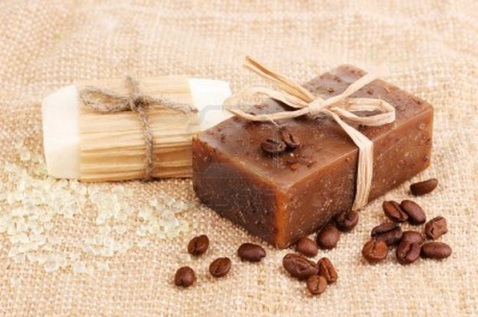 Colombia coffee soap wedding favor
