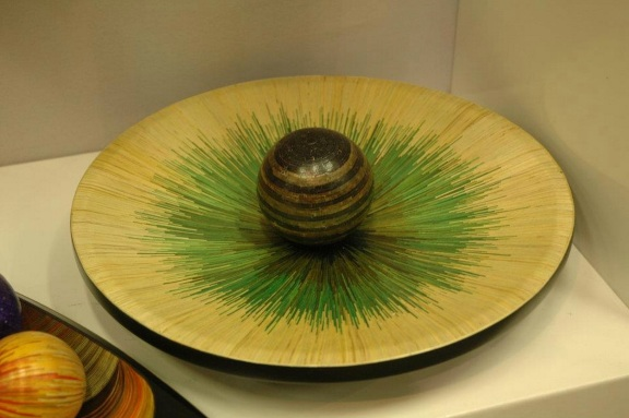 Colombian artisan wooden plate