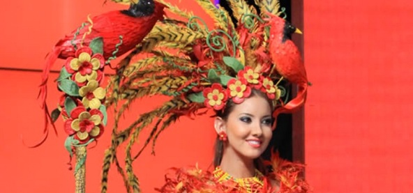 Colombian festival costume