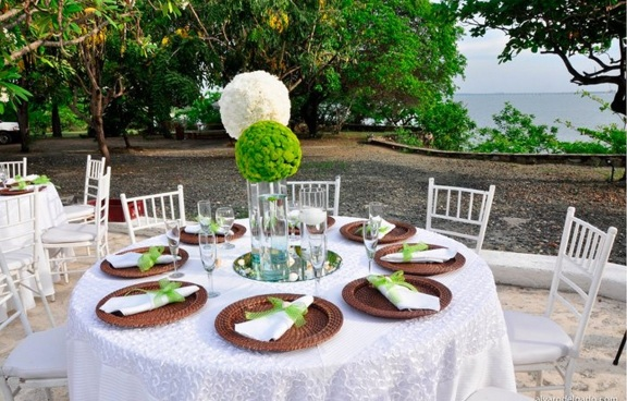 Colombian wedding table decoration