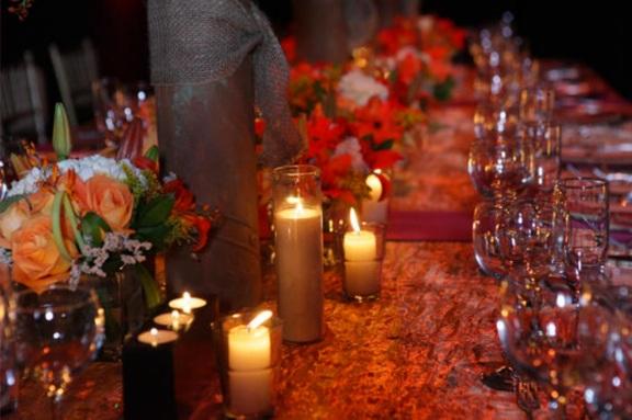 exotic sensual red wedding theme