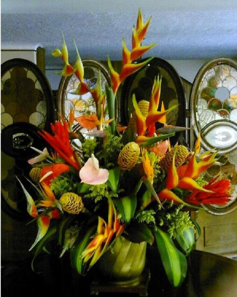 exotic wedding flowers in caribbean