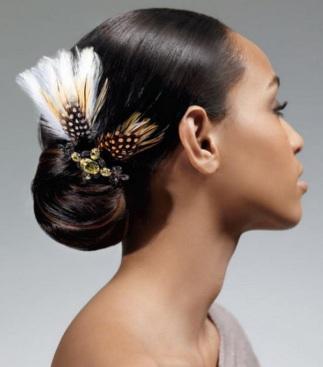 feather hairdo hairstyle
