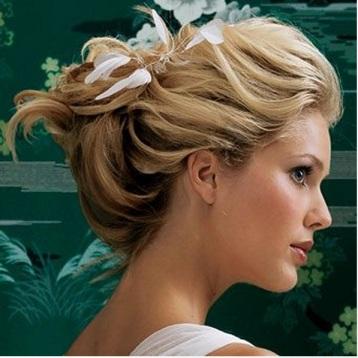 feather, swan hairdo