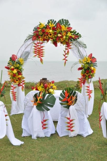 latino wedding beach