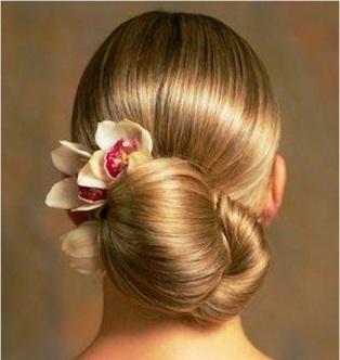orchid wedding hairdo