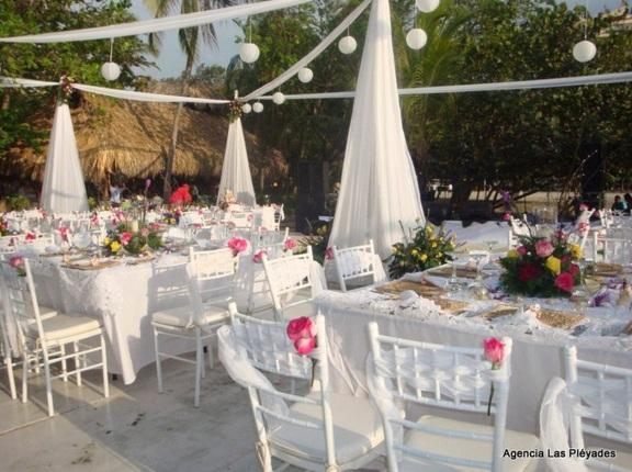 White theme beach wedding