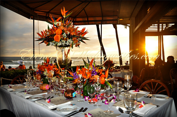 exotic wedding table decoration flowers
