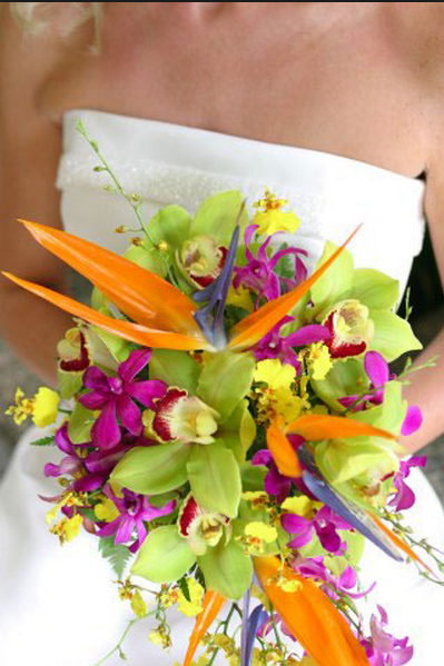 tropical flower boquet