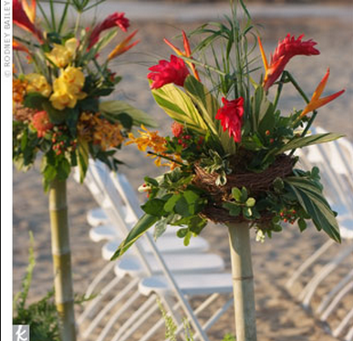 tropical flowers wedding